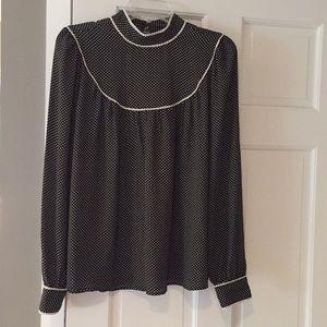 Black dot blouse